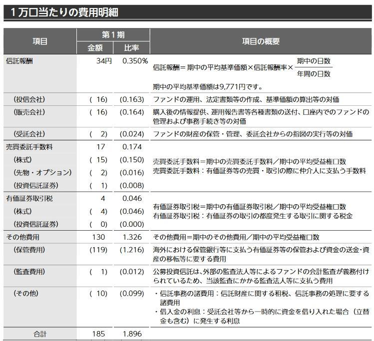 ニッセイ新興国株式の第一期運用報告書