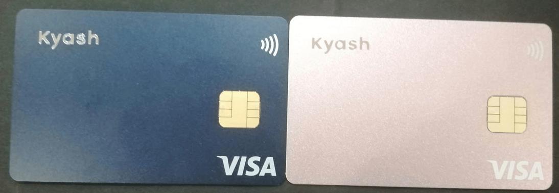 Kyashカードの実物