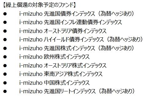 繰上償還されたi-mizuhoシリーズ10本